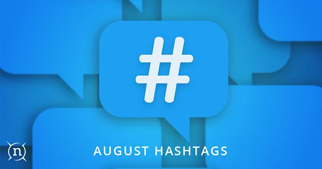August Hashtags